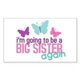 butterfly big sister to be Rectangle Decal