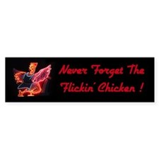 Neon Chicken Bumper Bumper Sticker