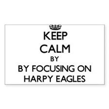 Keep calm by focusing on Harpy Eagles Decal