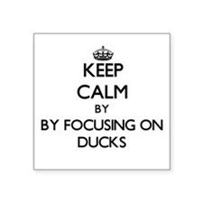 Keep calm by focusing on Ducks Sticker