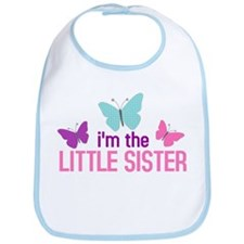 i'm the little sister butterfly Bib