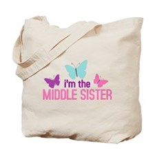 i'm the middle sister butterfly Tote Bag