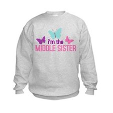 i'm the middle sister butterfly Sweatshirt