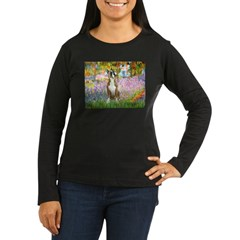 Monet's Garden & Boxer Women's Long Sleeve Dark T-