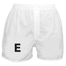 Letter E Black Boxer Shorts