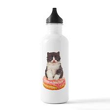 Kitten on a Donut Water Bottle