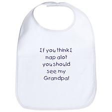 Grandpa nap -blue Bib
