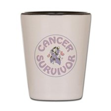 CANCER SURVIVOR Shot Glass