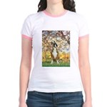 Spring with a Boxer Jr. Ringer T-Shirt