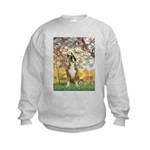 Spring with a Boxer Kids Sweatshirt