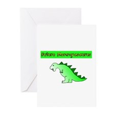 Future Mommyasaurus Greeting Cards