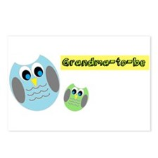 Grandma-to-be Owl Postcards (Package of 8)