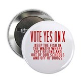 """Vote Yes On X"" Button"