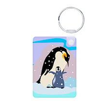C Penguins Aluminum Photo Keychains