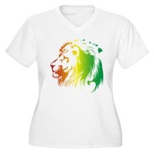 Hawaii Rasta Lion Plus Size T-Shirt
