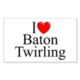 """I Love (Heart) Baton Twirling"" Decal"