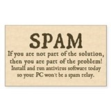 Spam Solution Rectangle Decal