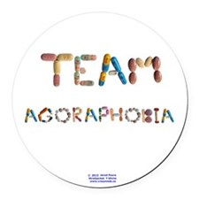 Team Agoraphobia Button Round Car Magnet