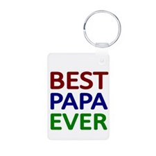 BEST PAPA EVER Keychains