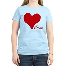 RED HEART LOVE inspired by Pablo Neruda T-Shirt