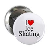 """I Love (Heart) Ice Skating"" 2.25"" Button"