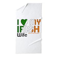 I Love My Irish Wife Beach Towel