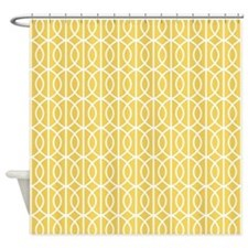 Mimosa Yellow Modern Pattern Shower Curtain