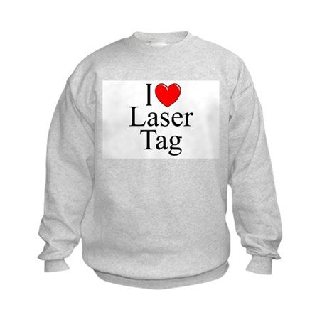 """I Love (Heart) Laser Tag"" Kids Sweatshirt"
