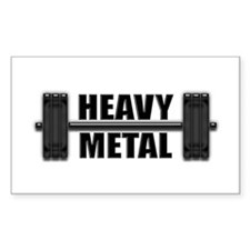 HEAVY METAL Rectangle Decal