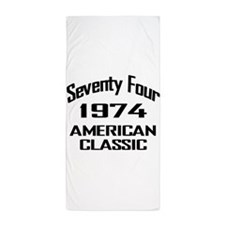 1974, 40th Birthday Beach Towel