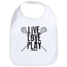 Live, Love, Play Lacrosse Bib