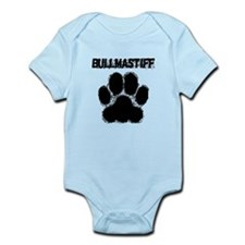 Bullmastiff Distressed Paw Print Body Suit