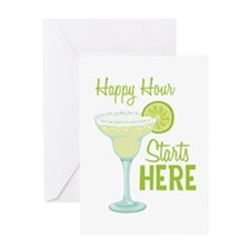 Happy Hour Starts HERE Greeting Cards