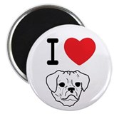 Cute Puggle designed to cuddle Magnet