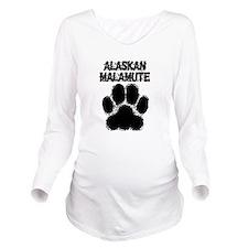 Alaskan Malamute Distressed Paw Print Long Sleeve