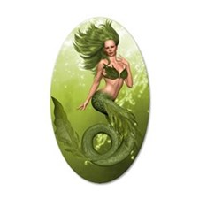 Green Mermaid Wall Decal