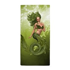Green Mermaid Beach Towel