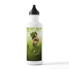 Green Mermaid Water Bottle