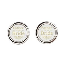 Father of the Bride gold Cufflinks