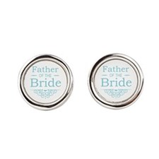 Father of the Bride blue Cufflinks