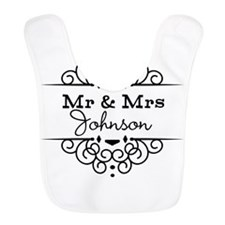 Personalized Mr and Mrs Bib