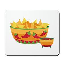 Tortilla chips salsa Mousepad