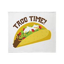 TACO TIME! Throw Blanket