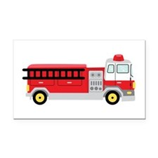 Fire Truck Rectangle Car Magnet