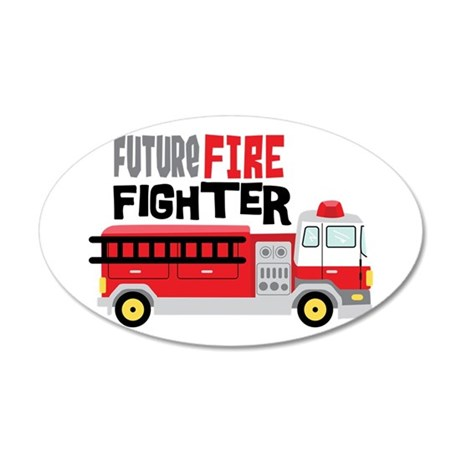 Future Fire Fighter Wall Decal