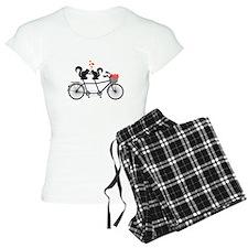 tandem bicycle with squirrels Pajamas