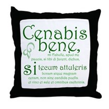 Cenabis Bene Throw Pillow