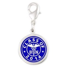 Class Of 2014 BSN Silver Round Charm