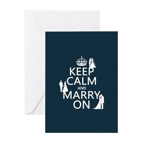 Keep Calm and Marry On (heterosexual) Greeting Car