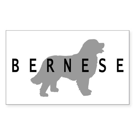 Bernese Dog Rectangle Sticker
